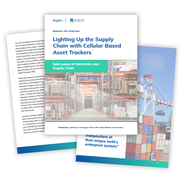 Lighting up the supply chain with cellular based asset tracking